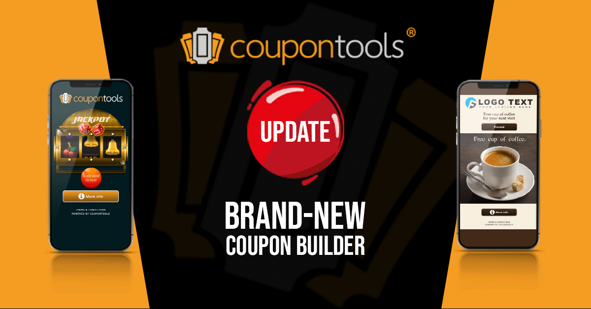 Brand-new coupon builder!