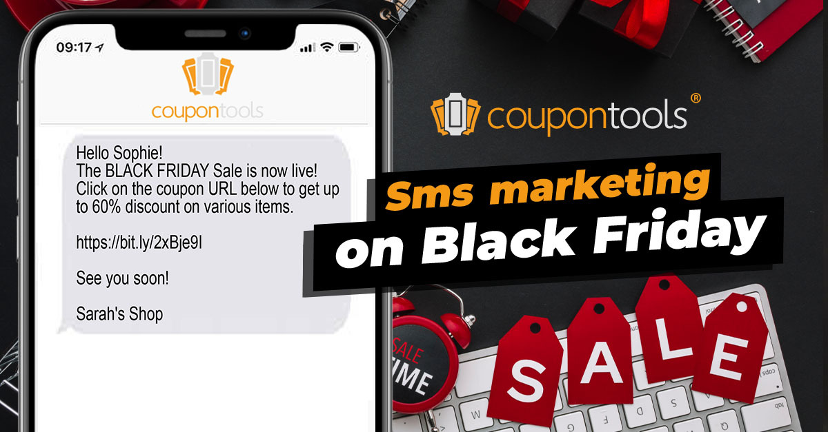 Send Digital Coupons via SMS on Black Friday
