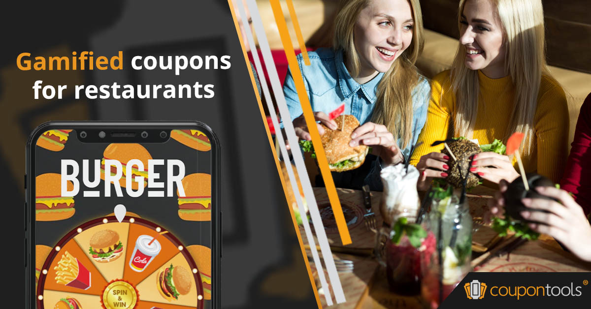 Digital gamified discount coupons for restaurants