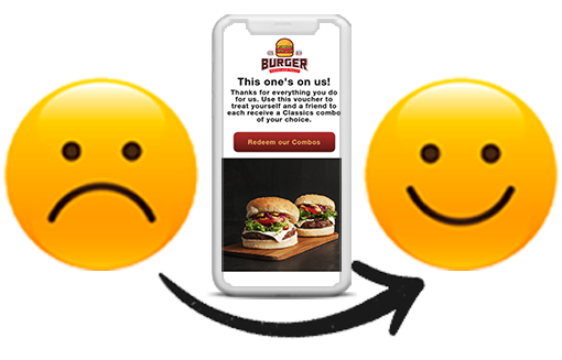 Automated Digital Customer Care Vouchers for Restaurants