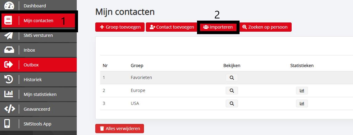Groepsberichten per sms versturen vanuit een Excel-bestand