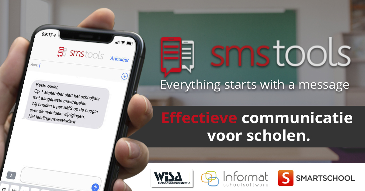 Sms-communicatie voor scholen via je huidige schoolsoftware
