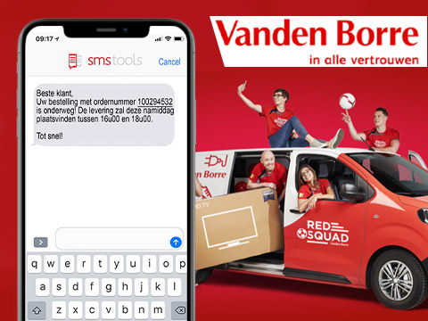 SMS notificaties voor leveringen